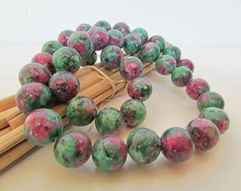 Pearl Ruby - zoisite Ruby zoisite synthetic, gem stone, 10 mm, 8 mm, 6 mm, 4 mm - 568