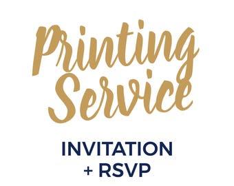 Professional Printing Service | Invitation + RSVP