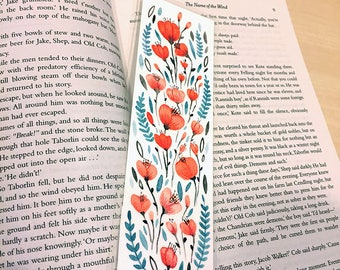 ORIGINAL Floral Bookmark - Hand Painted Watercolour - Design 1