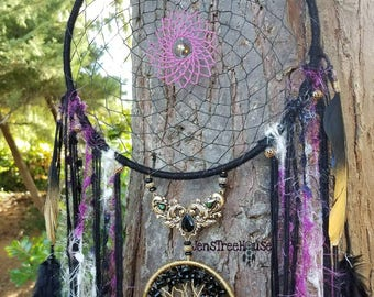 Black Onyx Tree of Life Dream Catcher/Wall Hanging