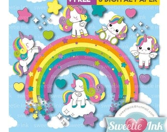 Unicorn clipart Kawaii