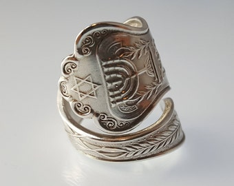 Star of David Ring, Jewish Jewelry, Statement Ring for her, Statement Ring Gift, Silver Ring Gift for Girlfriend, Jewish ring, Judaica Ring