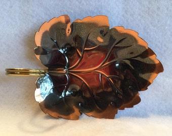 Vintage Coppercraft Guild Leaf Dish