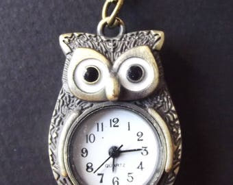 """Long Necklace Watch """"My Owl Lover"""""""