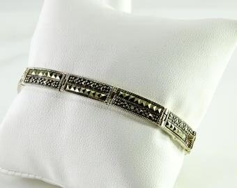 "Marcasite Sterling Bracelet 7"""