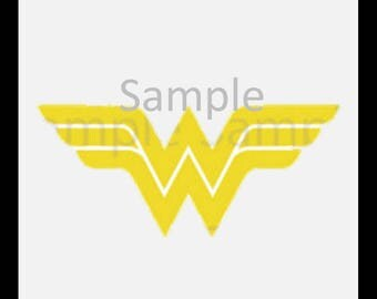Wonder Woman Logo, digital download-SVG, DXF,JPG,Png for use with Cameo, Silhouette and Cricut Die Cutting Machines