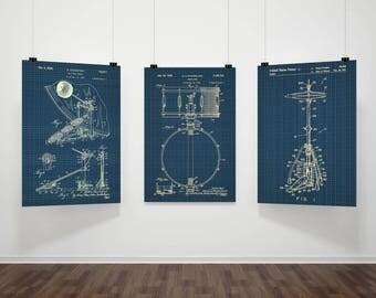 PATENT Snare Drum ,Snare Drum Poster, Snare Drum Blueprint,Snare Drum Wall Art,Snare Dum Decor, Drum Art, Percussion #P345