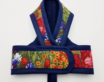 WILDFLOWERS PREMIUM Cat Harness by ComfyStyles Your Choice Border / Walking Butterfly Vest / Ultra Light / Sphynx clothes & all breeds