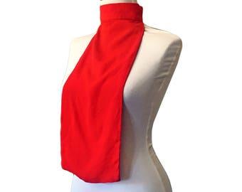 Vintage Red Ascot/Bib Collar