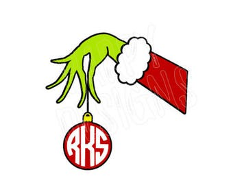 Hand Ornament SVG, Ornament Svg File, Christmas SVG, Cricut Cut Files, Silhouette Cut Files, Cutting Files for Christmas