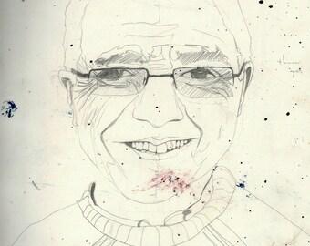 A3 Original pencil drawing - Lighthouse Keeper Portrait 7