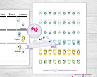 Starbucks coffee stickers coffee planner stickers planner coffee stickers starbucks happy planner stickers erin condren planner stickers