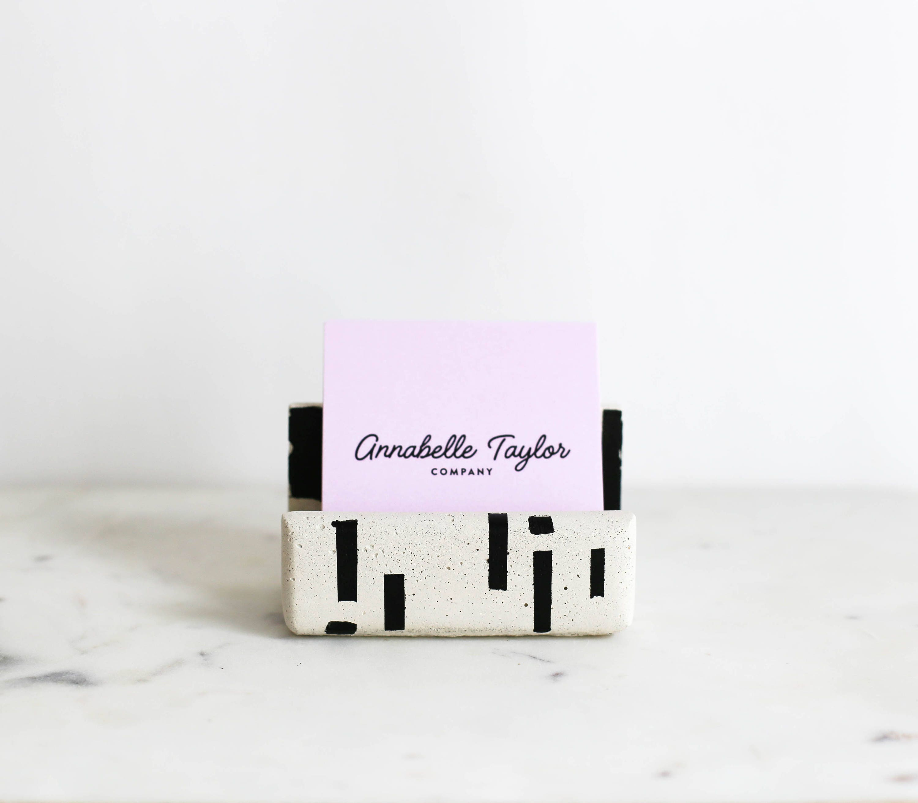 Concrete business card holder dots dash modern desk decor concrete business card holder dots dash modern desk decor business card holder colourmoves