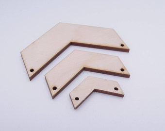 Wooden Chevron Shape for Crafts - Laser Cut