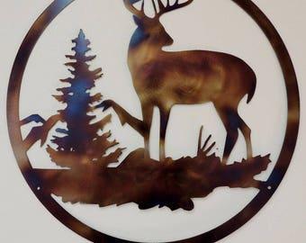 Deer Wildlife Scene W21