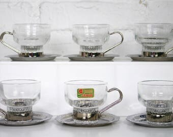 Lubiana Espresso cups mug and saucers set of 6