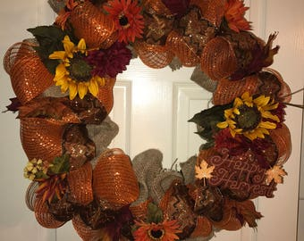 "The ""Thanksgiving"" Wreath"