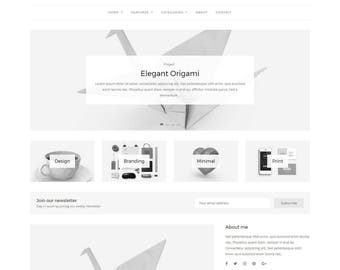 Grace - Minimal WordPress Blog Theme - Responsive WordPress theme - Website template