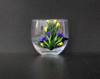 Candle Holder - violet