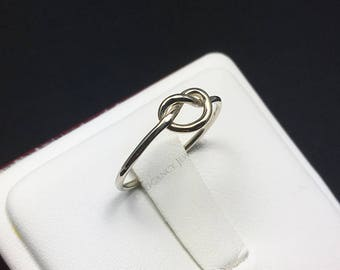 Adjustable .925 Sterling Silver Knot Toe Ring, Love Knot, Ring, Valentines Day, Midi Ring, Jewelry (E026)