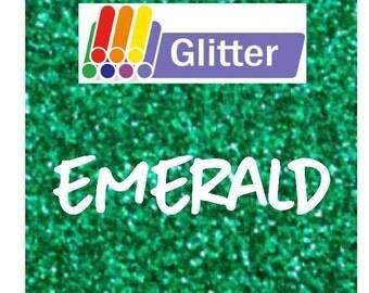 Siser Glitter Heat Transfer Vinyl - Iron On - HTV - Emerald