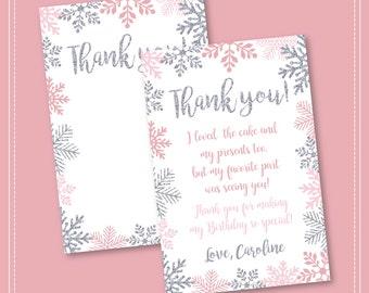 Winter Onederland Invitation, Pink and Silver, Birthday, Winter Onederland, Girl Onederland Invitation, 1st Winter Birthday