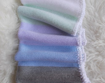 wool blanket baby blanket 75/55 cm made hand