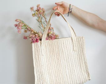 Market bags, handwoven palm tree