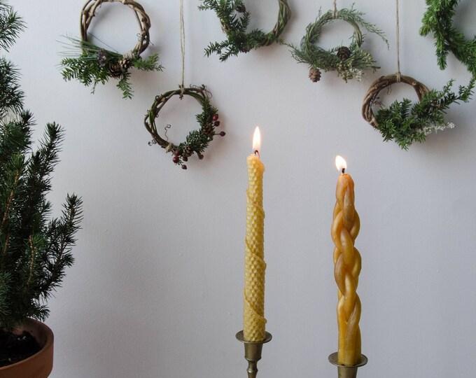 Handmade Christmas Mini wreaths. Christmas ornaments, christmas tree ornaments.