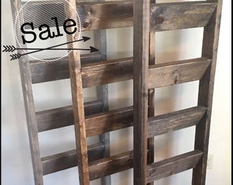 Blanket ladder | Rustic wooden farmhouse quilt ladder 5' | Distressed towel rack ladder | Decorative country decor furniture | Nursery decor