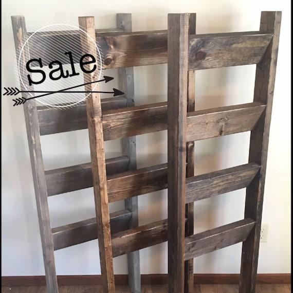 Blanket Ladder Rustic Wooden Farmhouse Quilt Ladder 5