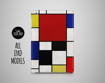Piet Mondrian Painting iPad Mini 4 Case iPad Air 2 Case iPad Case Art iPad Air Case iPad 4 Case iPad 3 iPad Mini Case Tablet Case iPad Cover