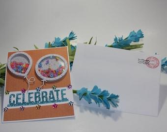 Celebrate Shaker Birthday Card