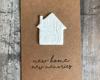 New Home Card - housewarming card, moving house card, moving card, new house card, blank card, greeting card, first home card, note card,