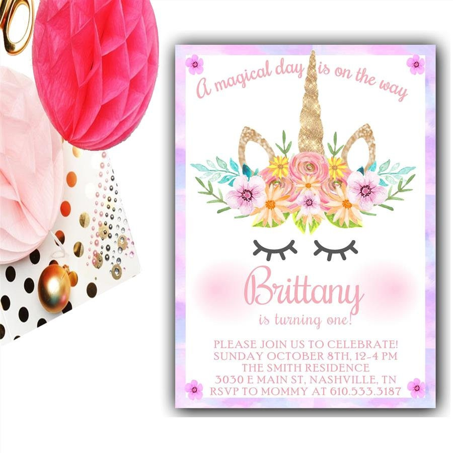Printable Party Invitations Unicorn | Invitationjpg.com