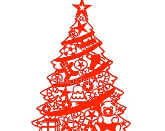 Christmas tree svg for instant digital download