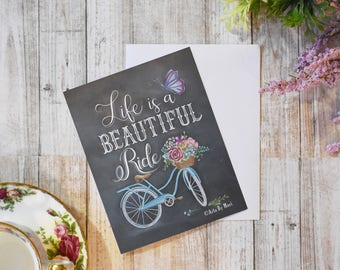 Life is a Beautiful Ride Notecard