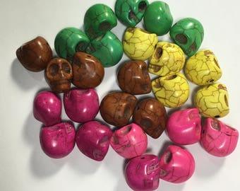 Skull Beads Howlite