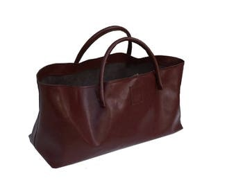 XXL Leather Shopper Large leather bag leather shopping bag used look leather handmade