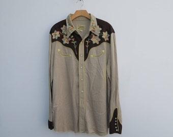 0547 - California RANCHWEAR  - Multicolor Fluorescent - Embroidered - Button Up