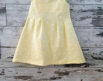 Yellow dress girls, Vintage kids dress, Yellow lemon dress girls, Girl's summer dress, Kids Summer dress, Kids clothes, Cotton girls dress,