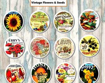 Vintage Flower Fruit Wood knobs on Cherry Wood Drawer Pull 1.5 x 1.18 Dresser knob Drawer Pull