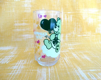 "1986 Vintage Care Bear ""Good Luck Bear"" Drinking Glass"
