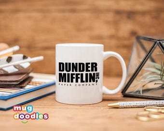Dunder Mifflin Inc, The Office, Dunder Mifflin Mug, The Office Coffee Mug, The Office Gift, MD648