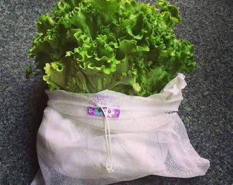 Re.Vrečka. (pack of 3) Upcycled & Reusable Shopping Storing bag, Vegetables Lace bag, Eco friendly, Farmers Market bag -