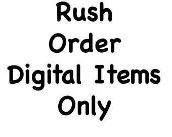 Rush Order - Digital/Download Items ~ Please only use after having a conversation with us