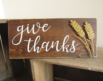 Give Thanks Wheat String Art *Made-to-Order*