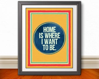 TALKING HEADS Inspired Poster Print | 11x14| Wall Art | Home Decor | Home | This Must Be The Place