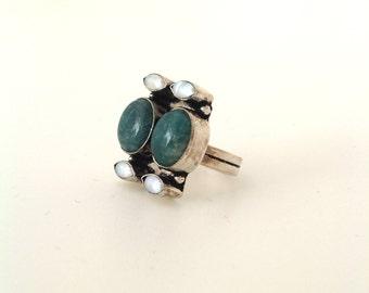 1970s Modernist silver ring