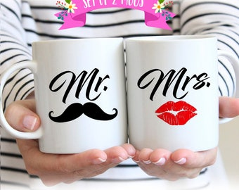 Mr and Mrs Mugs, Mr. and Mrs. Coffee Mugs, Mr and Mrs Coffee Mugs, Mr Mrs Coffee Mugs, Couples Mug Set